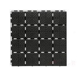 Садовая плитка Prosperplast Easy Square black (черный)