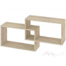 Полка для книг Кортекс-мебель КМ 24, Дуб сонома
