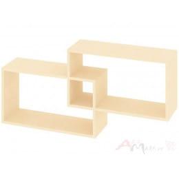 Полка для книг Кортекс-мебель КМ 24, венге светлый