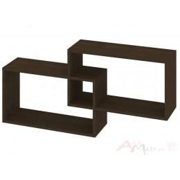 Полка для книг Кортекс-мебель КМ 24, венге