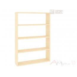 Полка для книг Кортекс-мебель КМ 26, венге светлый