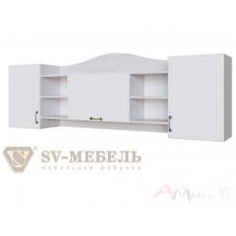 Полка SV-мебель Акварель 1 ясень анкор светлый / белый матовый