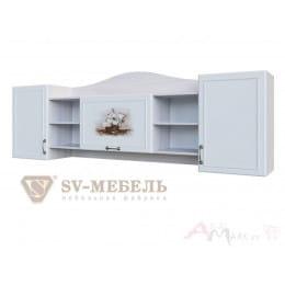 Полка SV-мебель Акварель 1 ясень анкор светлый / белый матовый / Море