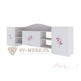 Полка SV-мебель Акварель 1 ясень анкор светлый / белый матовый / Цветы