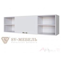 Полка SV-мебель Акварель 1 над столом ясень анкор светлый / белый матовый