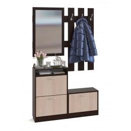 Прихожая Сокол-мебель ВШ-25 венге / беленый дуб