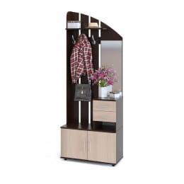Прихожая Сокол-мебель ВШ-1 венге / беленый дуб