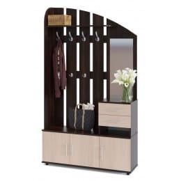 Прихожая Сокол-мебель ВШ-2.2 венге / беленый дуб