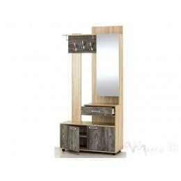 Вешалка с зеркалом SV-мебель Визит 1 зеркальная дуб сонома / сосна джексон