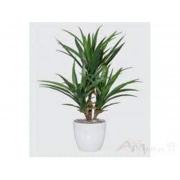 Пальма Gasper Yucca x3, 70 см искусственная в горшке, зеленый