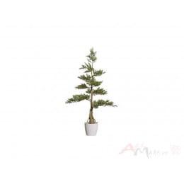 Кедровое дерево Gasper 160 см искусственное в горшке, зеленый