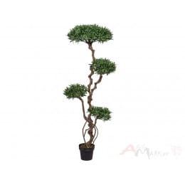 Подокарпус дерево Gasper 130 см искусственный в горшке, зеленый