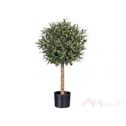 Оливковое дерево Gasper Olivenkugelbaum, 90 см искусственное в горшке, зеленый