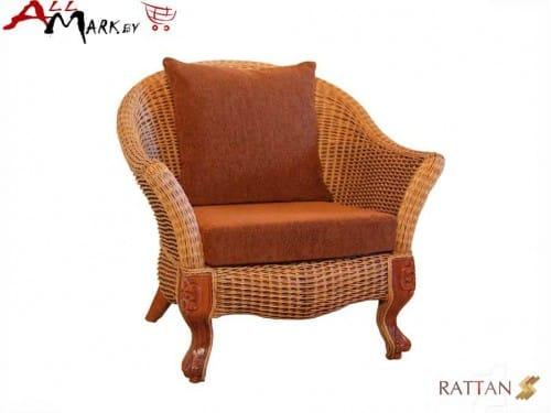 Кресло для отдыха Bonjar из натурального ротанга