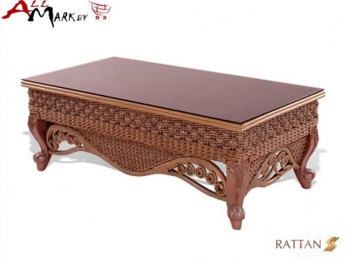 Кофейный столик Estana Twist из натурального ротанга