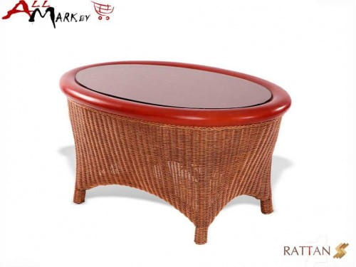 Кофейный столик Flores из натурального ротанга