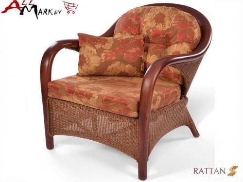 Кресло для отдыха Flores из натурального ротанга