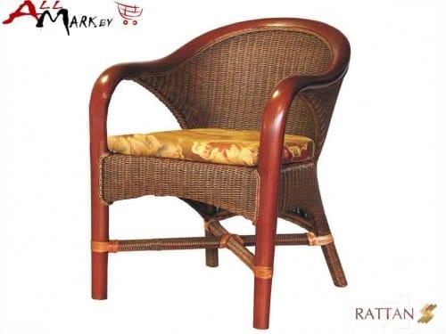 Кресло обеденное Flores 00101 из натурального ротанга