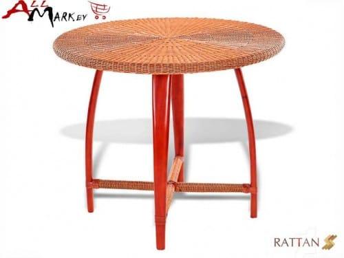 Круглый обеденный стол Flores 00017 из натурального ротанга