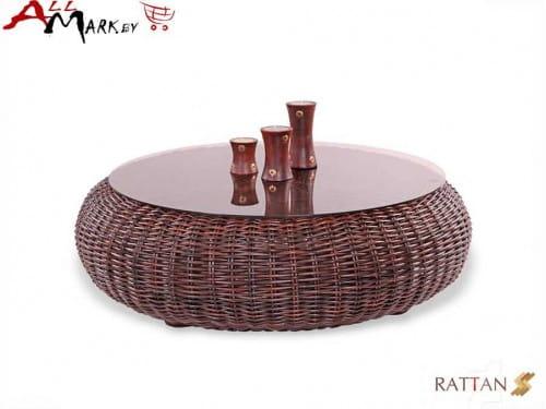 Кофейный столик Kiwi из натурального ротанга