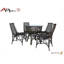 Комплект обеденный со стульями Nicholas Cv Marnos Rattan