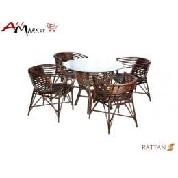 Комплект обеденный с креслами Nicholas Cv Marnos Rattan