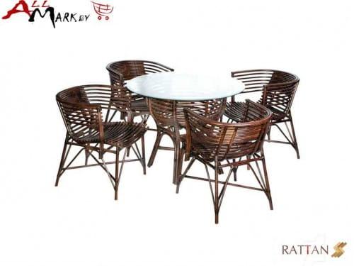 Комплект обеденный с креслами Nicholas из натурального ротанга