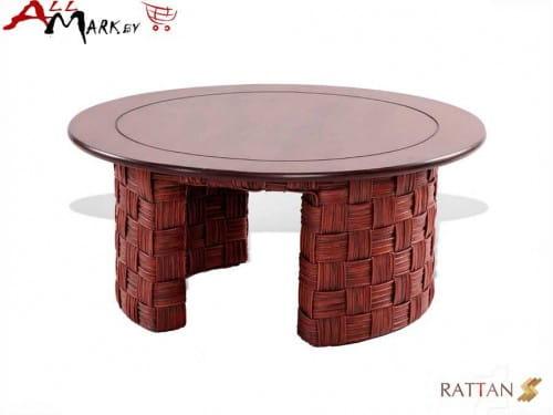 Кофейный столик Nikel из натурального ротанга