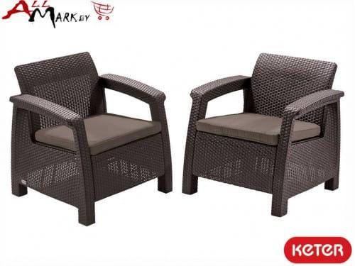 Комплект мебели Corfu duo set Keter коричневый