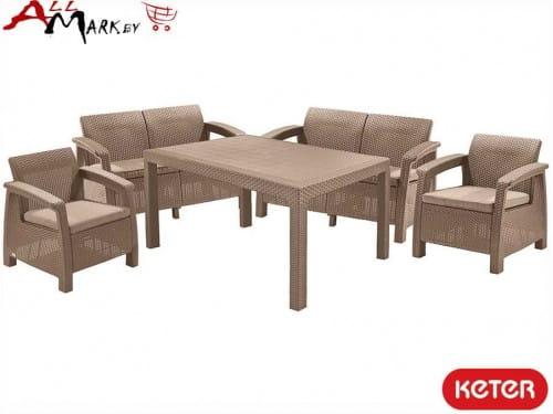 Комплект мебели Corfu fiesta set Keter из искусственного ротанга