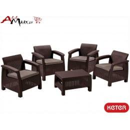 Комплект мебели Corfu quattro set Keter