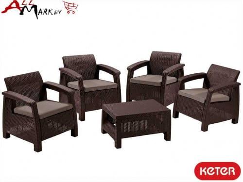 Комплект мебели Corfu quattro set Keter 17197978