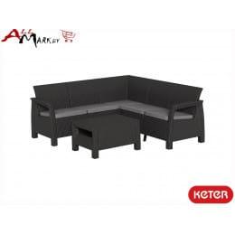 Комплект угловой мебели Corfu relax set Keter графит
