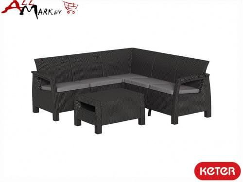 Комплект угловой мебели Corfu relax set Keter из искусственного ротанга