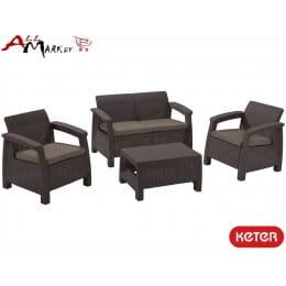 Комплект мебели Corfu set Keter графит