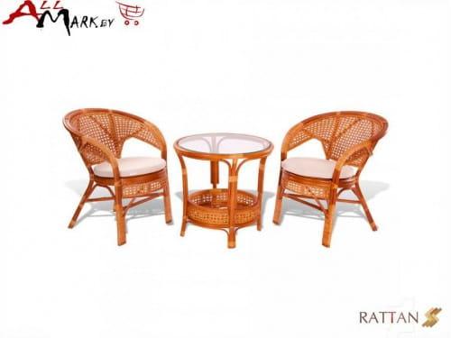 Комплект мебели 02/15 для отдыха из натурального ротанга