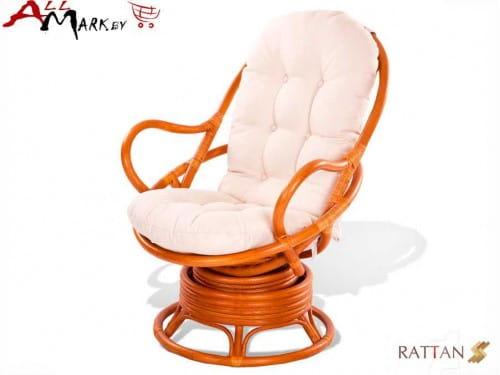 Кресло вращающееся 05/01 из натурального ротанга