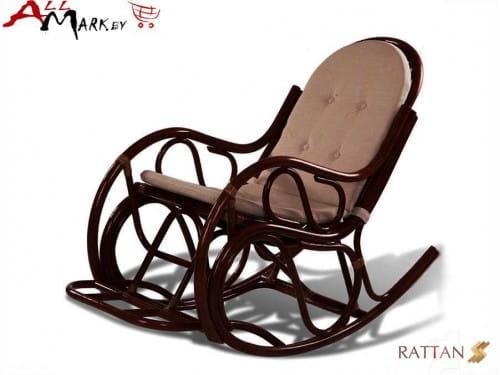 Кресло-качалка с подножкой 05/04 из натурального ротанга