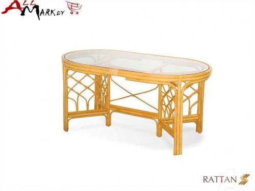 Обеденный стол 02/02 A из натурального ротанга