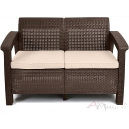 Софа Corfu love seat Keter коричневый