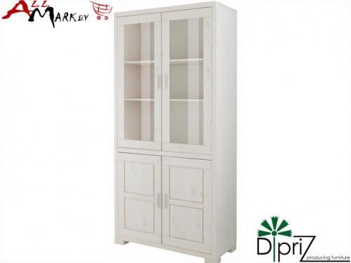 Шкаф с витриной Мэдисон Диприз Д 1148 из массива сосны
