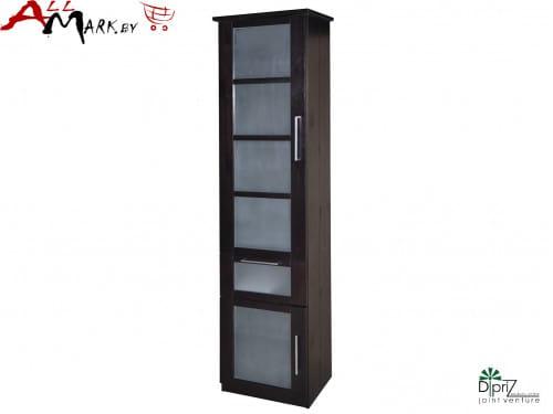 Шкаф с витриной Париж Диприз Д 1176 из массива сосны