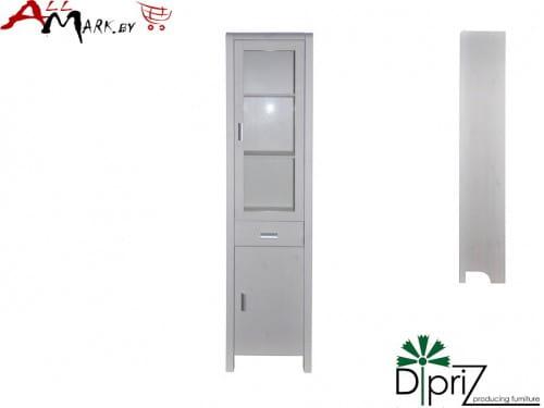 Шкаф с витриной Д 6162 Мадейра Диприз из массива сосны