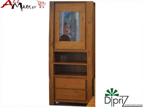 Шкаф с витриной Ди Гарда Диприз Д 7140-2 из массива сосны