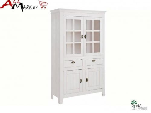 Двойной шкаф с витриной Роми Диприз Д 7187-3 из массива сосны