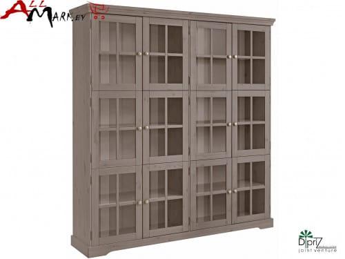 Шкаф с витриной Том Диприз Д 7207-2 в гостиную из массива сосны