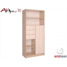 Шкаф Интерлиния СК-021 дуб сонома  / дуб белый