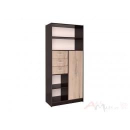 Шкаф Интерлиния СК-021 венге / дуб серый