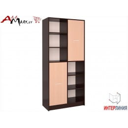 Шкаф Интерлиния СК-022 венге / дуб молочный