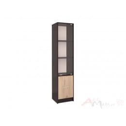 Пенал Интерлиния СК-024 с витриной венге / дуб серый